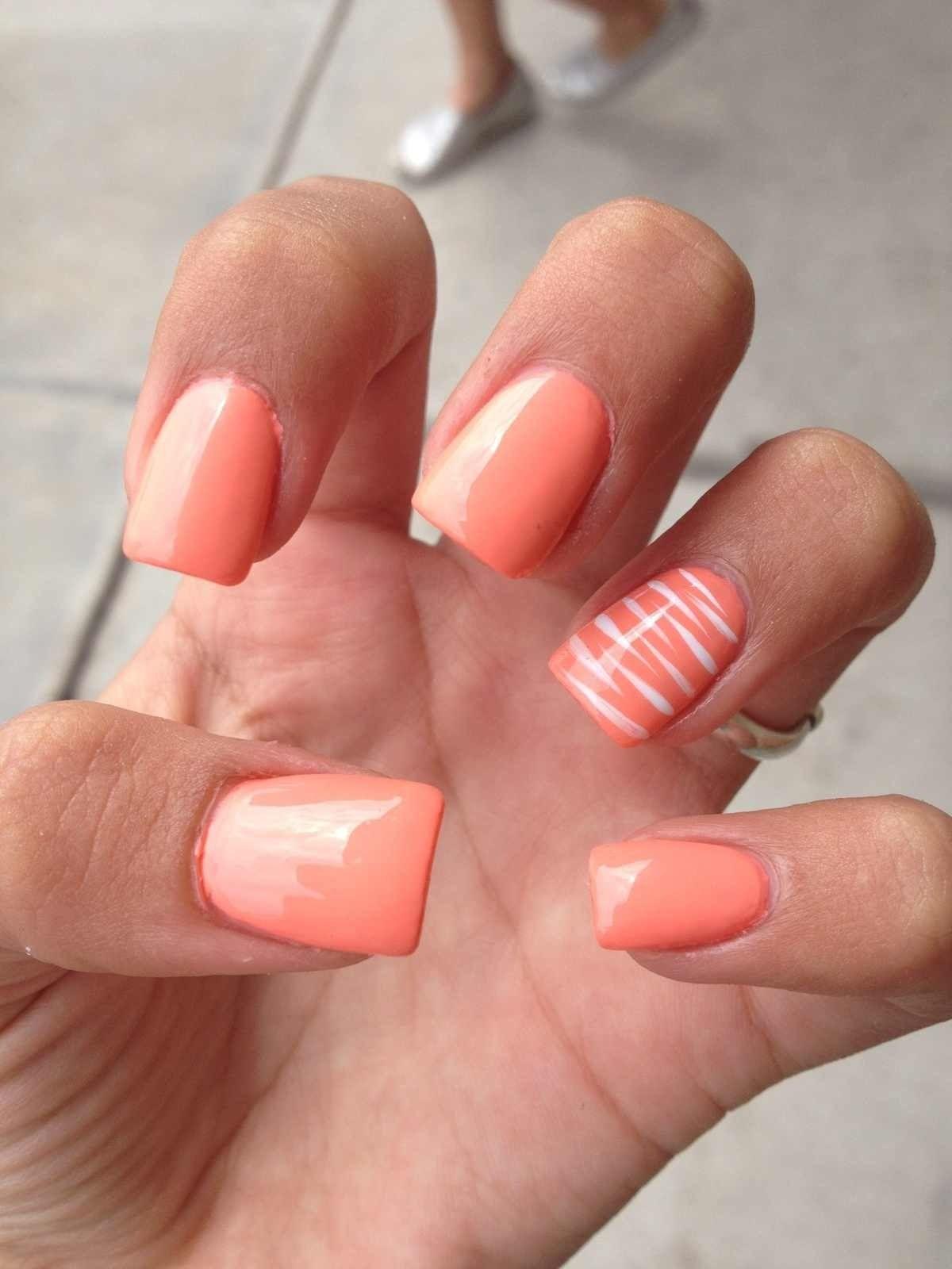 Cute Nail Color For Summertime 3 Orange Nails Orange Nail Art Orange Nail Designs