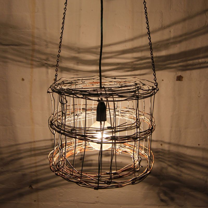 Cylinder wire light fitting | Eco furniture, Industrial furniture ...