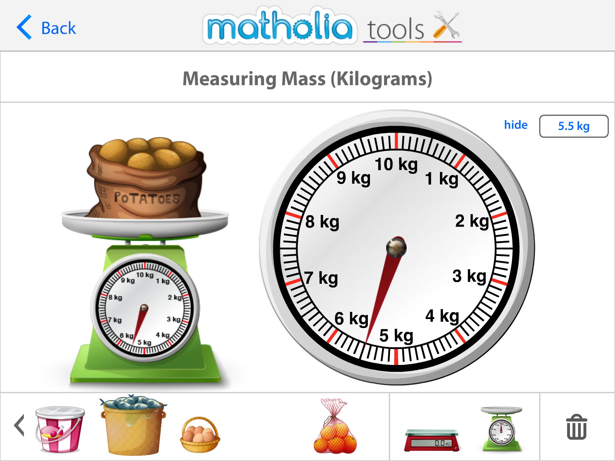 Matholia Tools Measuring Mass Kilograms Play To Learn Measuring Mass Singapore Math [ 1536 x 2048 Pixel ]