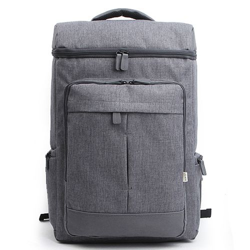 Made in Korea Cool Laptop Backpacks - Front 2 zip pockets and Side 2 zip pockets, Pocket for iPad and Laptop Compartment, Mesh cushion padded shoulder strap