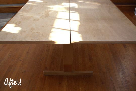 How To Make A Hinged Tabletop From Hollow Core Doors Hollow Core Doors Diy Sewing Table Hinged Table