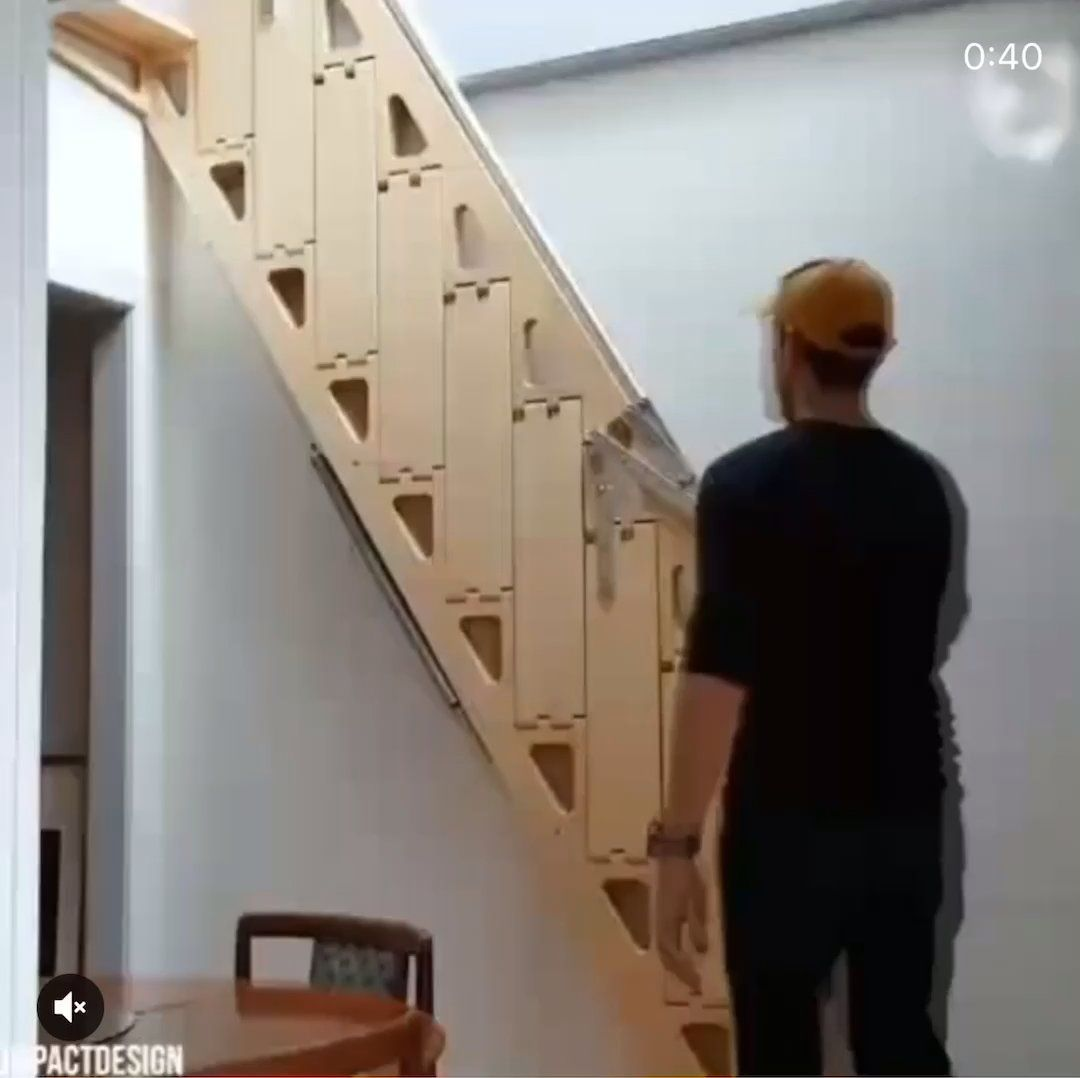 Best This Foldable Stairs Beamazed With Images Stairs 400 x 300