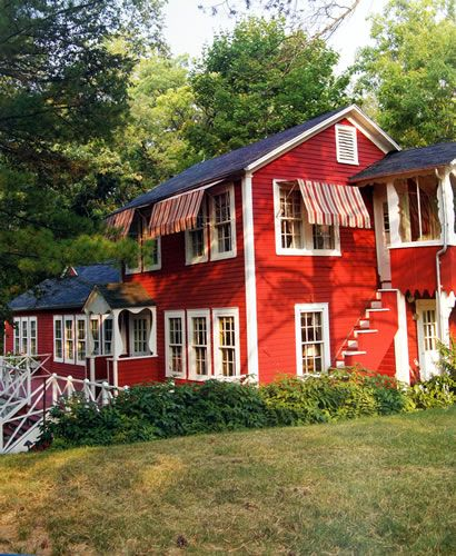 Superior Red And White Painted Houses   Bing Images