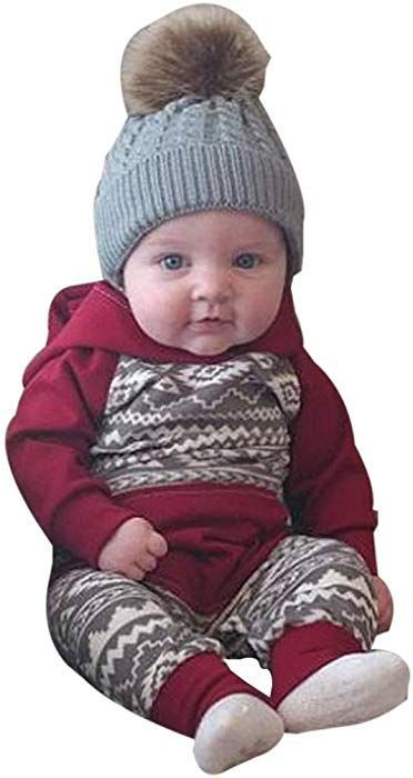 592f12742d28f For 0-18 Months Kids, Voberry Newborn Infant Baby Boy Girl Geometrical  Hooded Romper Jumpsuit Outfits Autumn Winter Clothes Set (0-3 Months):  Amazon.co.uk: ...