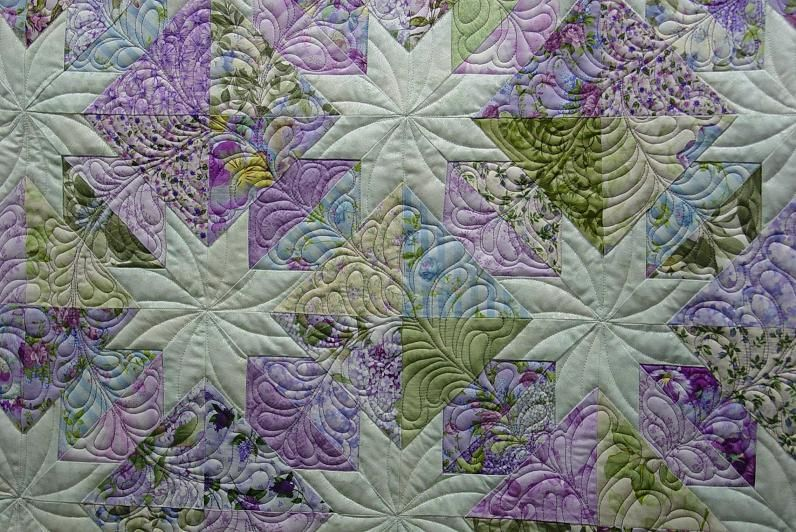 Finally done! Fairy Frost raffle quilt - Quilt Pictures, Patterns & Inspiration... - APQS Forums