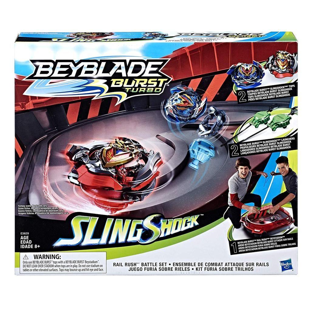 Beyblade Burst Turbo Slingshock Rail Rush Battle Set Beyblade Burst Beyblade Toys Hasbro