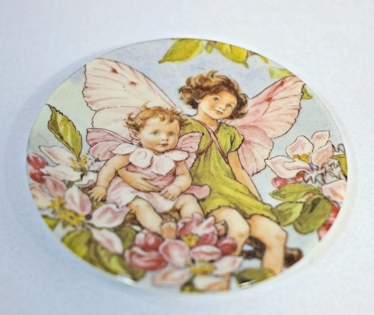 The Apple Blossom Fairy Collector's Plate by GenusCloset06 on Etsy