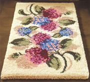 Hydrangea 27 X 54 Latch Hook Rug Kit Comes Complete With Stamped