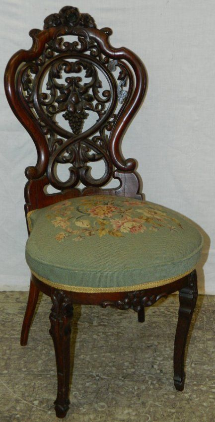 Belter Laminated Victorian Rose Wood Chair Victorian