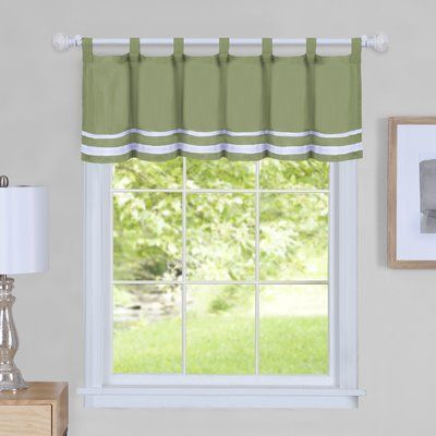 August Grove Hornell 58 Curtain Window Valance White Valance