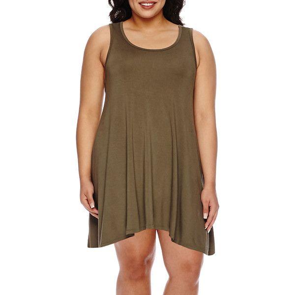 Decree Sleeveless Swing Tunic Dress - Juniors Plus ($17 ...