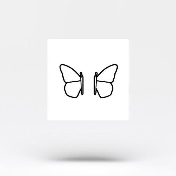 Photo of Passende temporäre Tätowierung des halben Schmetterlings (4er + 4er Set)