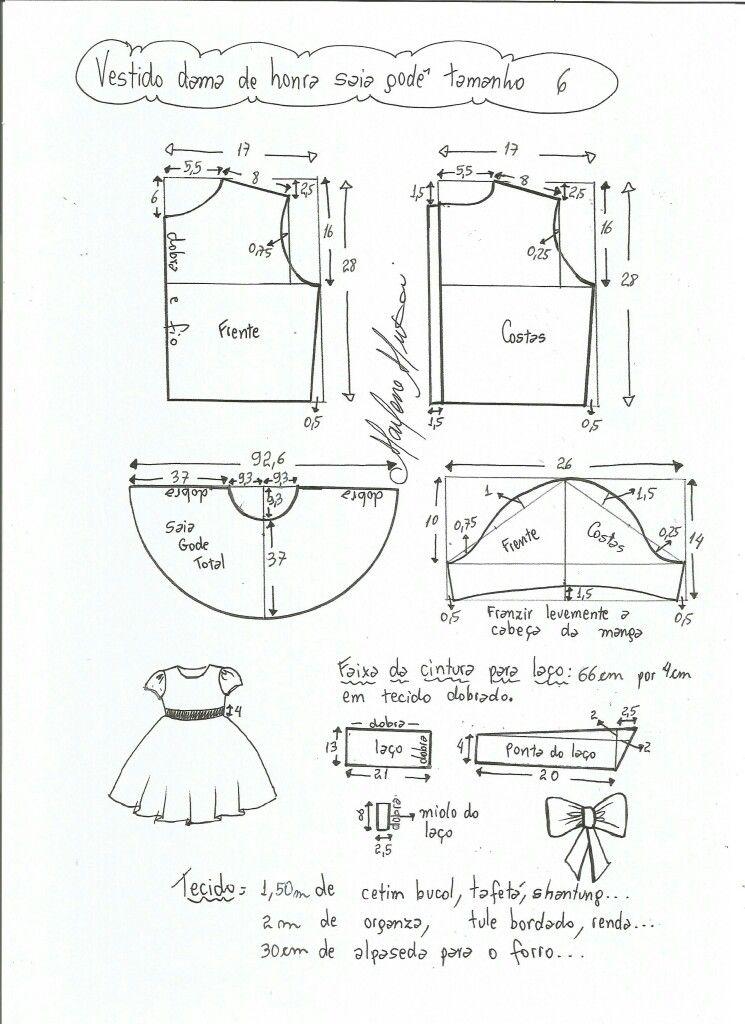 Pin de SUELLEN MELINA en Moldes/modelagem | Pinterest | Costura y Bebe