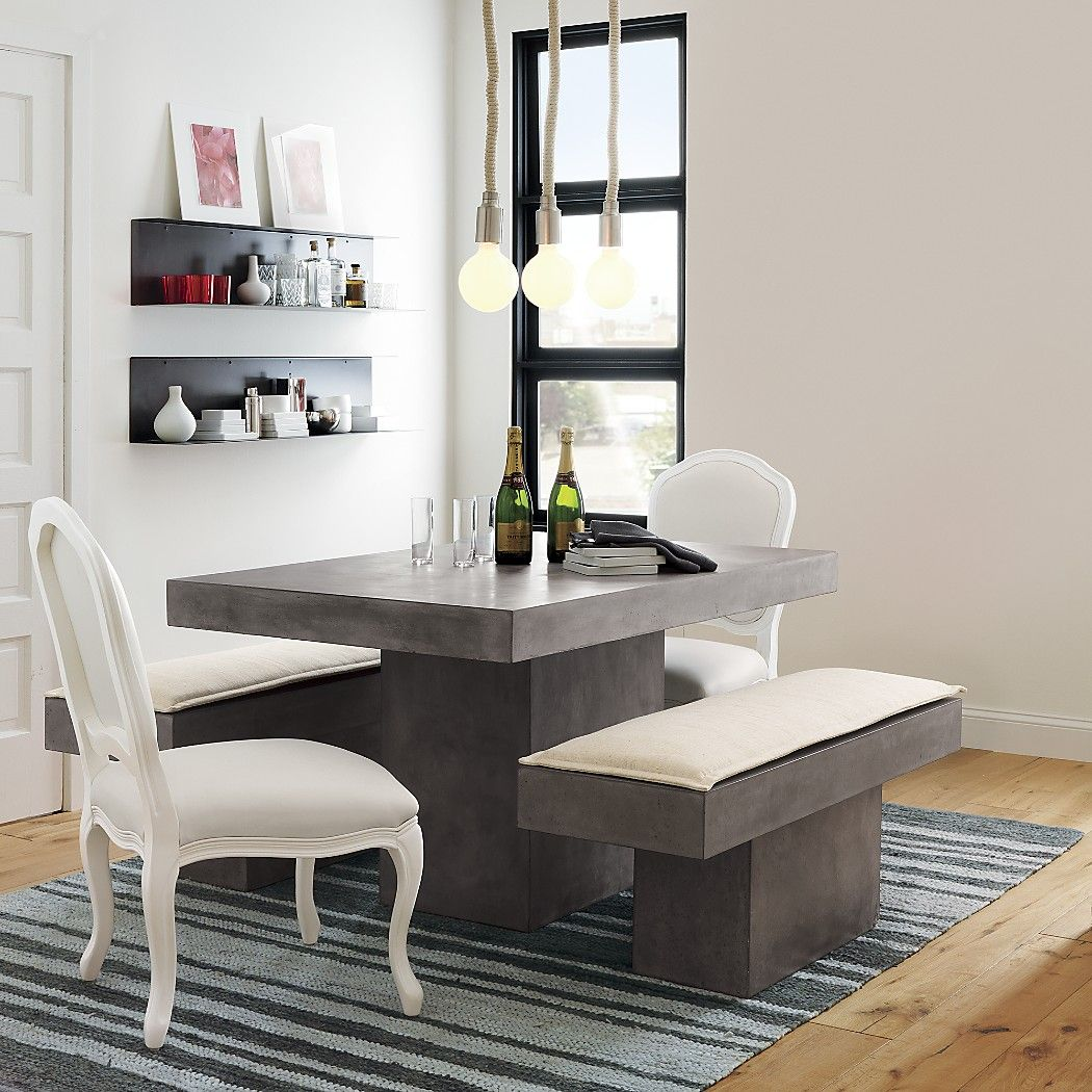 Fuze Grey Dining Table Grey Dining Tables Dining Room Furniture Modern Concrete Dining Table