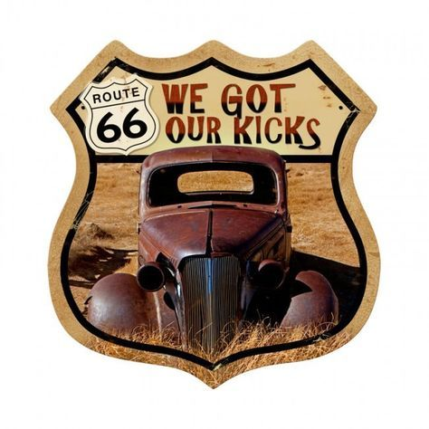Route 66 Rusty Shield Metal Sign 15 x 15 Inches is part of Route 66 sign - Jack and Friends offer more than 9,000 vintage metal signs and vintage wall clocks collection for your home or office wall decorations  FREE SHIPPING over $79!