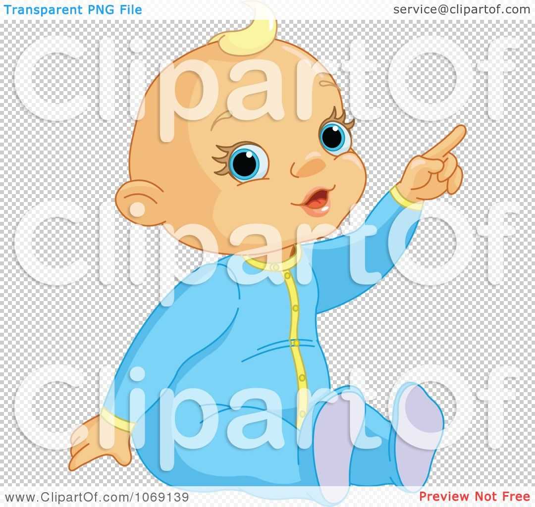 Clipart Baby Boy Pointing Royalty Free Vector Illustration By Pushkin Free Vector Illustration Baby Clip Art Vector Free