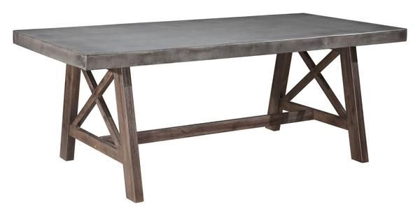 Ford Indoor Outdoor Dining Table With Poly Cement Top On