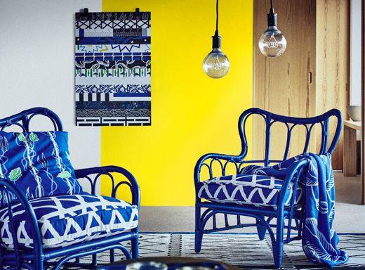 Poltrone ikea blu qualit e confort divani e poltrone for Poltrone in vimini ikea