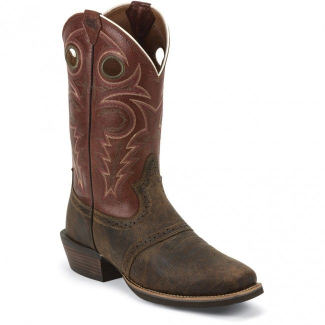 983ab962c82 SV2521 Justin Men's Galaxy Whiskey Western Boots - Brown www.bootbay ...