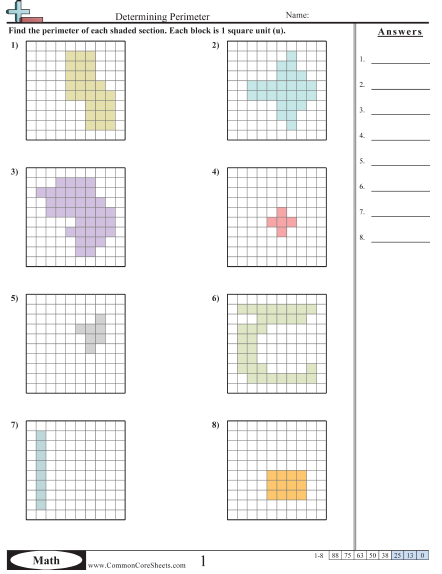 11++ Finding area and perimeter worksheets Online