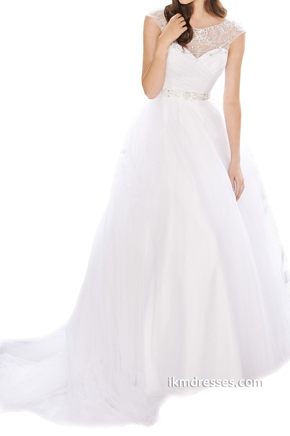 Ball Gown Beading Pleat Wedding Dresses http://www.ikmdresses.com/Ball-Gown-Beading-Pleat-Wedding-Dresses-p89110