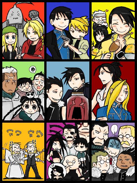 Fullmetal Alchemist characters. Fullmetal alchemist
