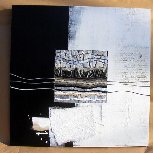White & Black - Mosaic 600x600 by Lela Pagliari from Brovelli Interior Design