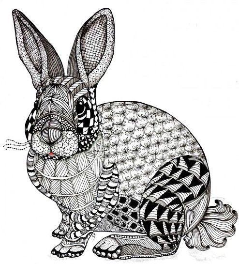 rabbit zentangle art worksheet art coloring pages designs in 2019 art worksheets bunny. Black Bedroom Furniture Sets. Home Design Ideas