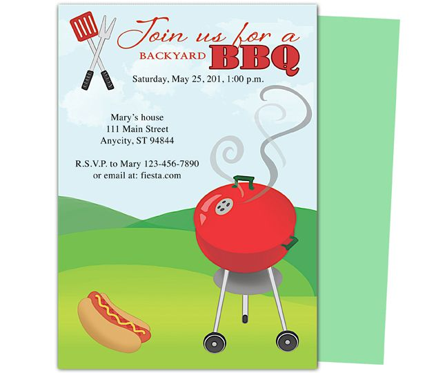 Birthday BBQ Grillin Party Templates Design Layout Easy Edit In