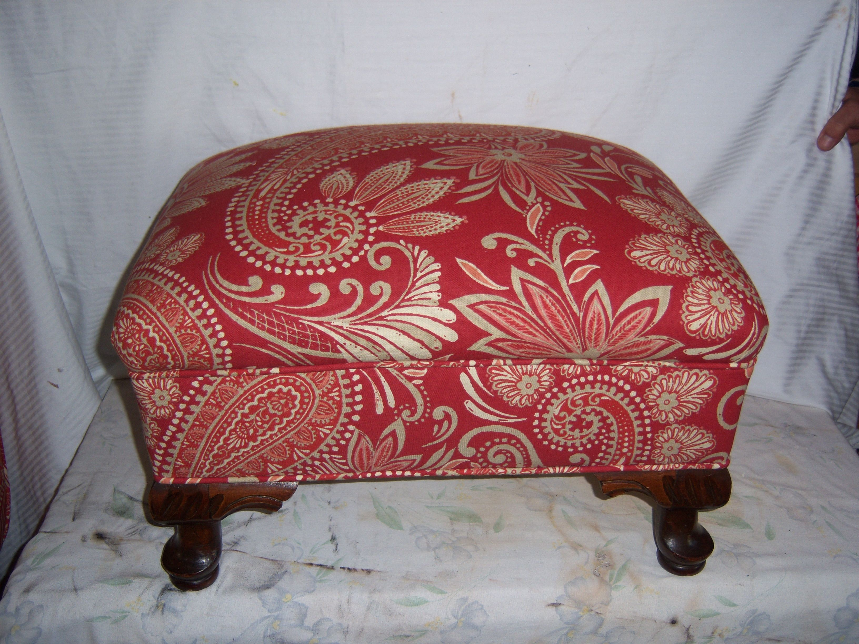 how to reupholster an ottoman bench