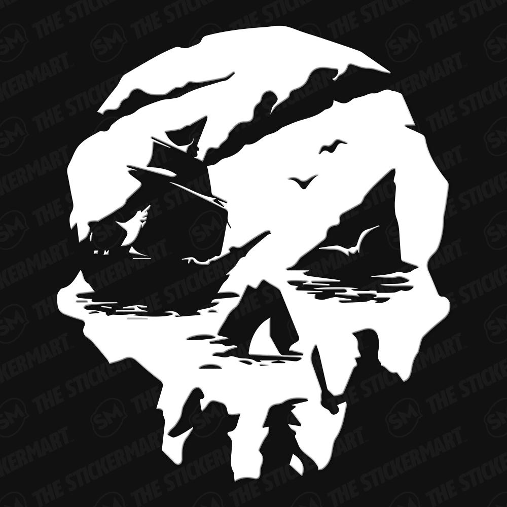 Sea Of Thieves Skull Logo Vinyl Decal Sea Of Thieves Skull Logo Skull Artwork
