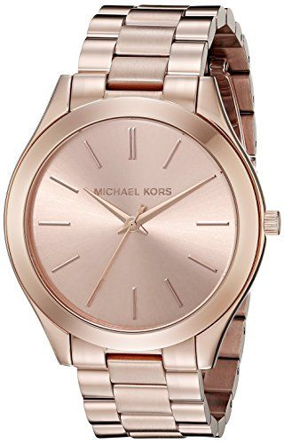 e7d34831bfc9 Michael Kors Women s Runway Rose Gold-Tone Watch MK3197 - http   dressfitme