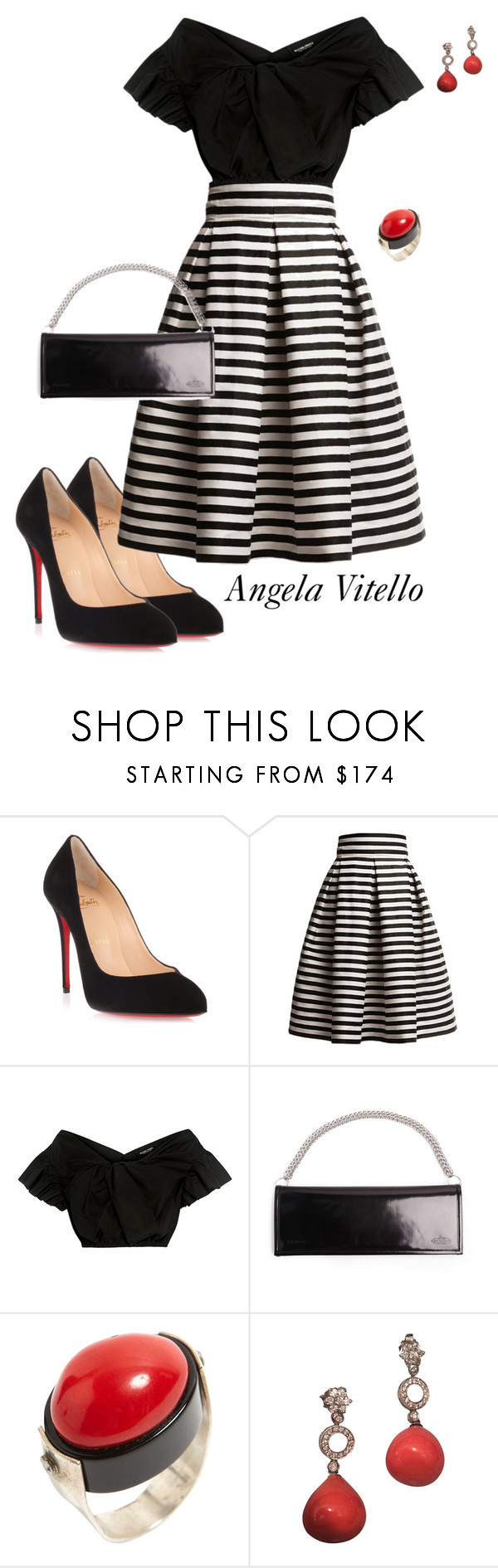 """Untitled #984"" by angela-vitello ❤ liked on Polyvore featuring Christian Louboutin, Rumour London, Rachel Comey and Vetements"