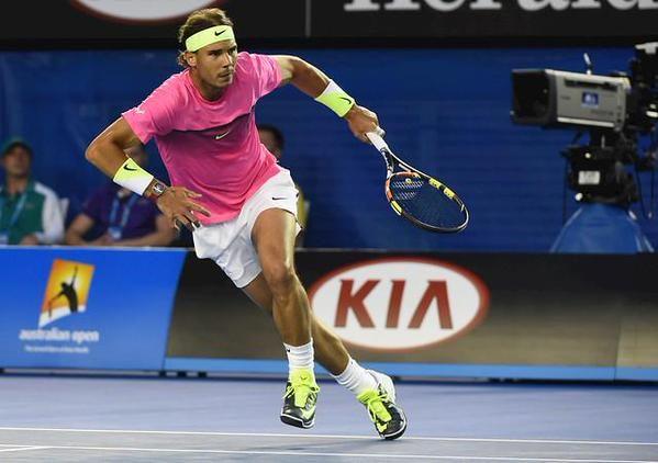 1/23/15 Rafa Into Rd of 16! #3-Seed Rafael Nadal def. Israel's Dudi Sela 6-1, 6-0, 7-5 in the last of the #AustralianOpen late, late nite matches. #VamosRafa