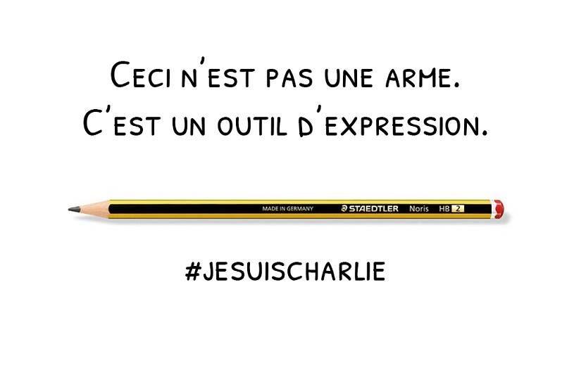 Ceci n'est pas une arme ! C'est un outil d'expression ! #JeSuisCharlie...
