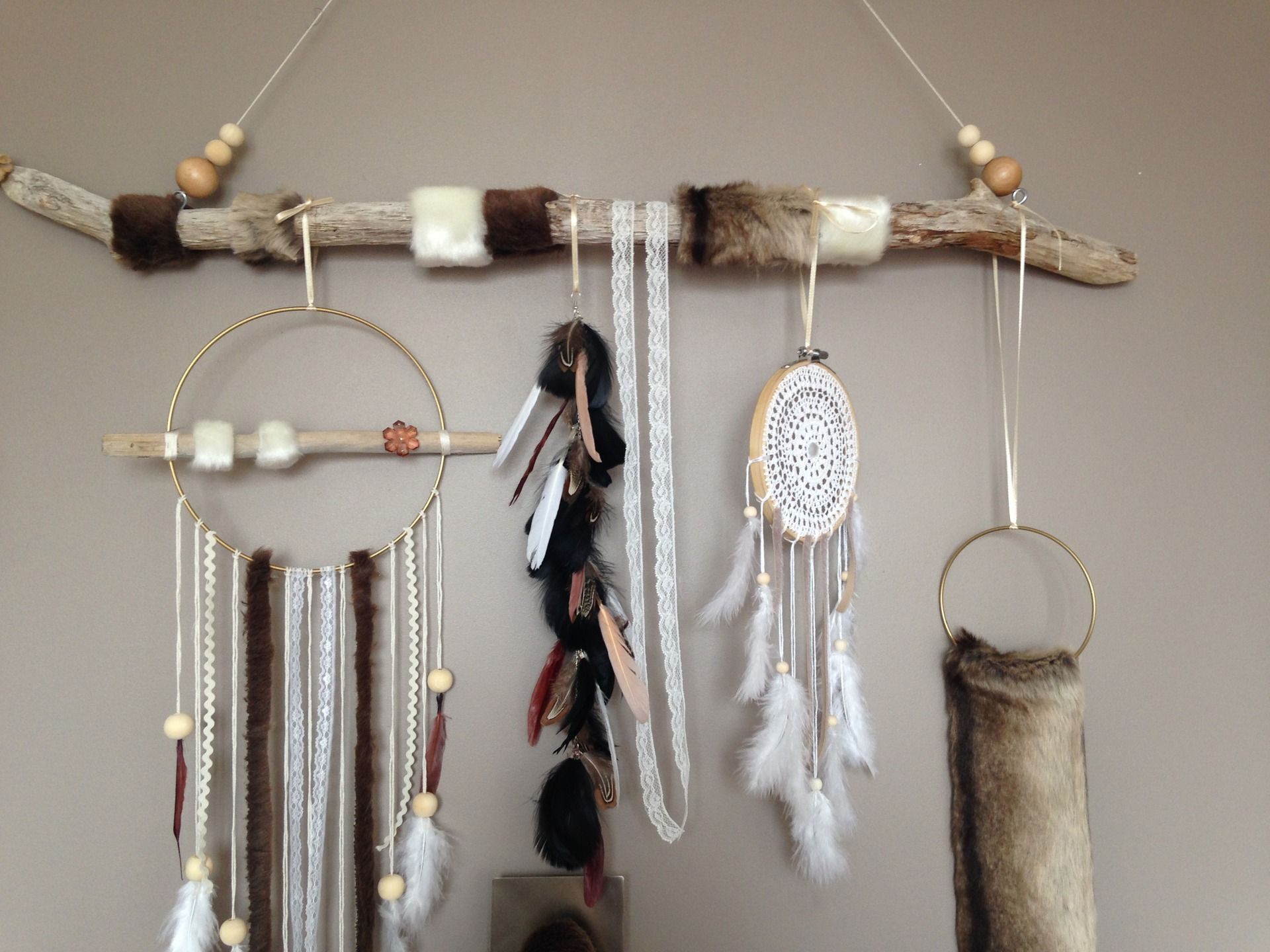 Attrape r ves dreamcatcher attrapeur de r ves en bois for Decoration bois flotte aquarium