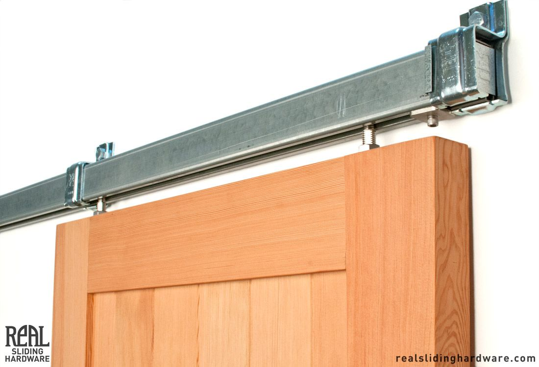 Box Rail Sliding Barn Door Hardware   Stainless Steel, Oil Rubbed Bronze,  And Black