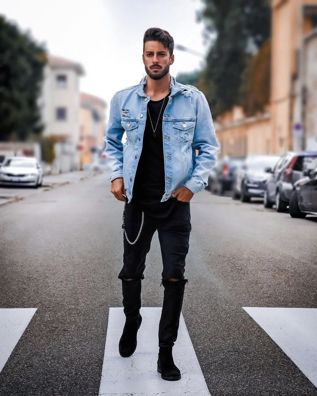 Alex Garman On Instagram Good Evening Guys My Look Tonight Stylish Mens Outfits Jean Jacket Outfits Men Mens Outfits [ 1350 x 1080 Pixel ]