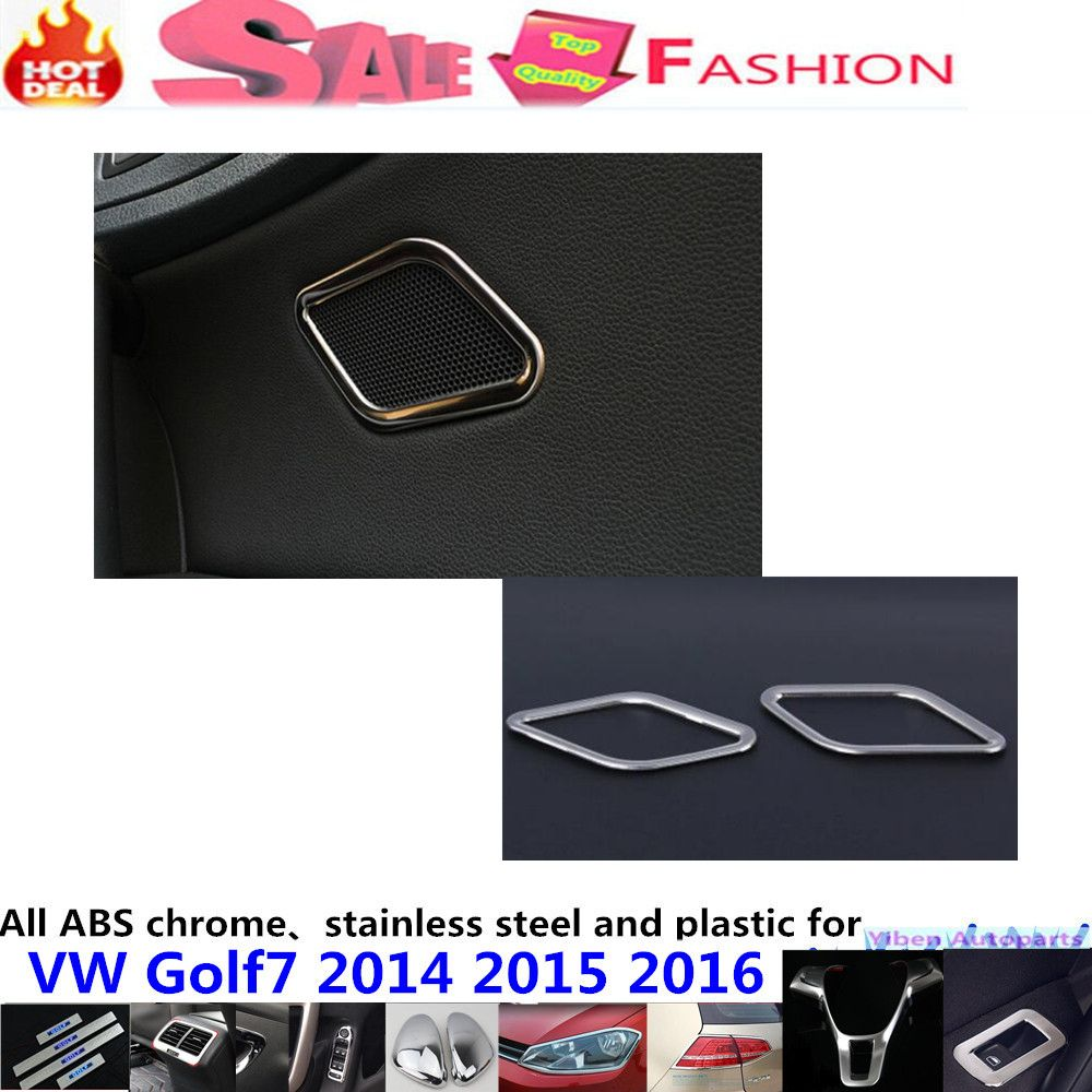 Car Stick Stainless Steel Door Audio Speak Sound Ring Case Lamp Kia K3 Fuse Box Trim Panel 2pcs For