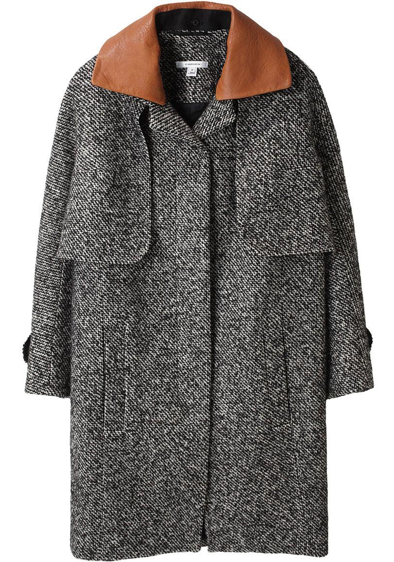 Carven tweed cape coat