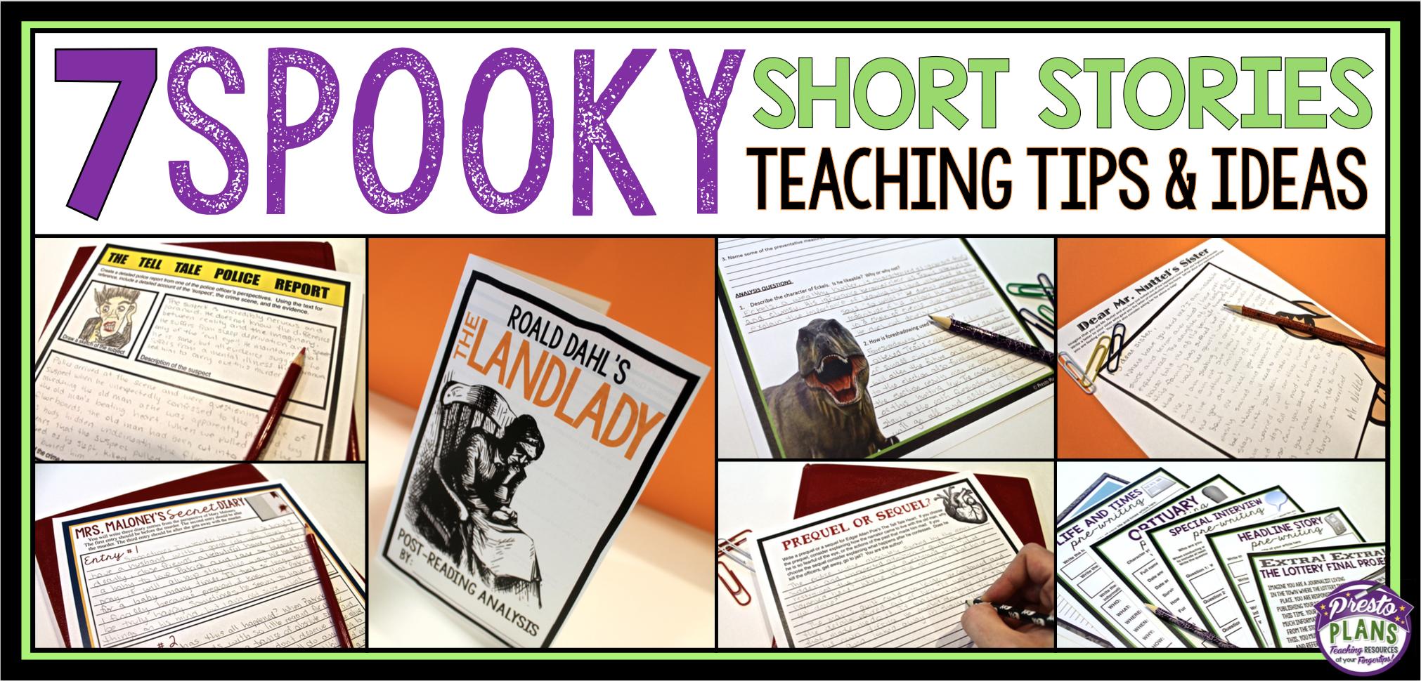 7 Spooky Short Stories To Teach Around Halloween