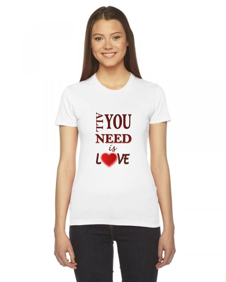 Love Ladies Fitted T-Shirt