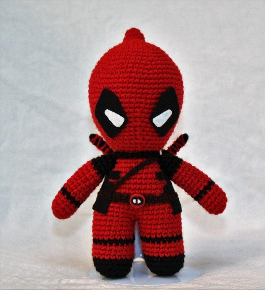 Ravelry: Deadpool pattern by Anna Carax | Crochet dolls, Crochet ... | 936x854