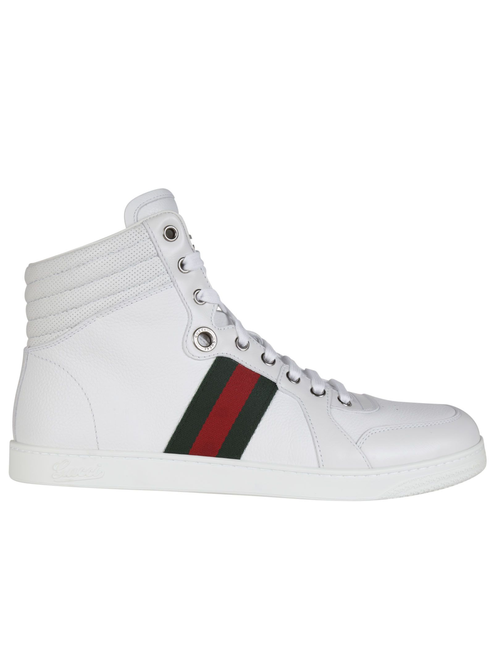 gucci shoes black and white. best price on the market: gucci guccissima leather high-top sneakers shoes black and white