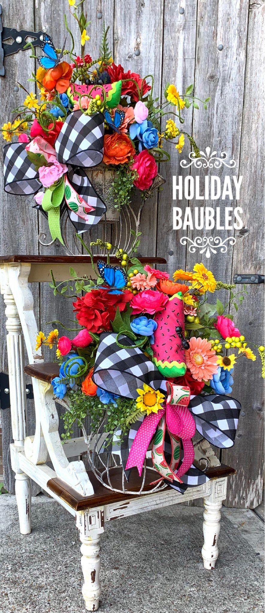 Summer Floral Arrangement, Spring Floral Arrangement, Summer Decor, Home Decor, Floral Centerpiece,  Centerpiece