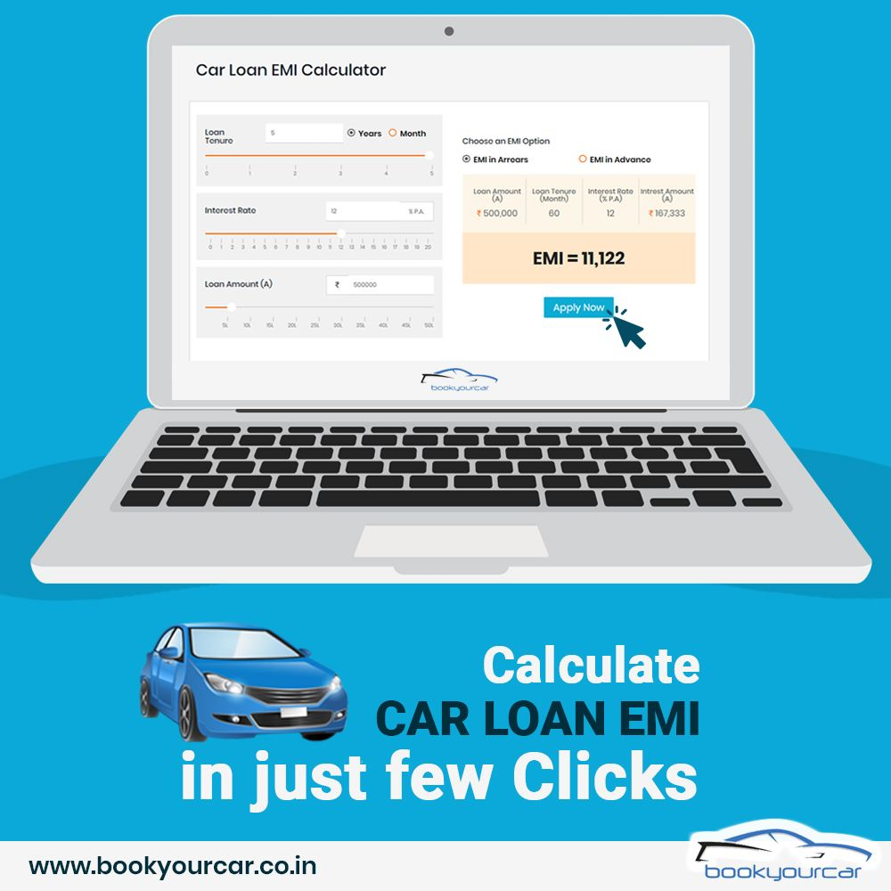 Calculating Car Loan EMI is now easy with Book Your Car