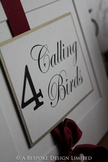 12 Days Of Christmas Table Names Wedding Table Decs Pinterest