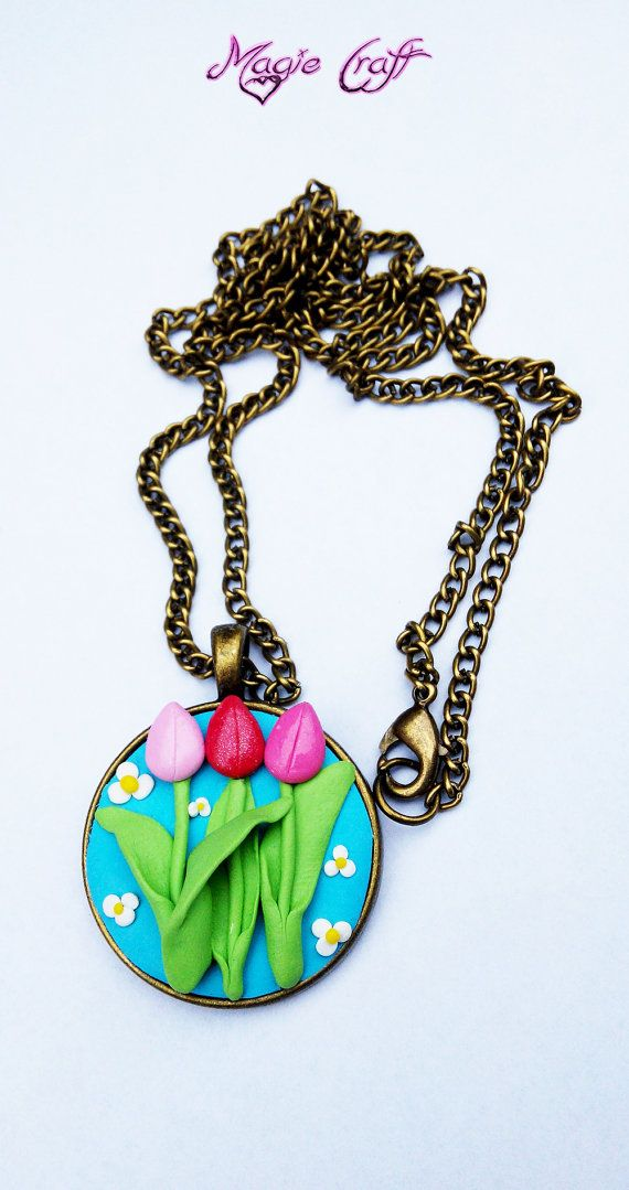 Hey, I found this really awesome Etsy listing at https://www.etsy.com/listing/175745147/tulip-necklace-in-fimo