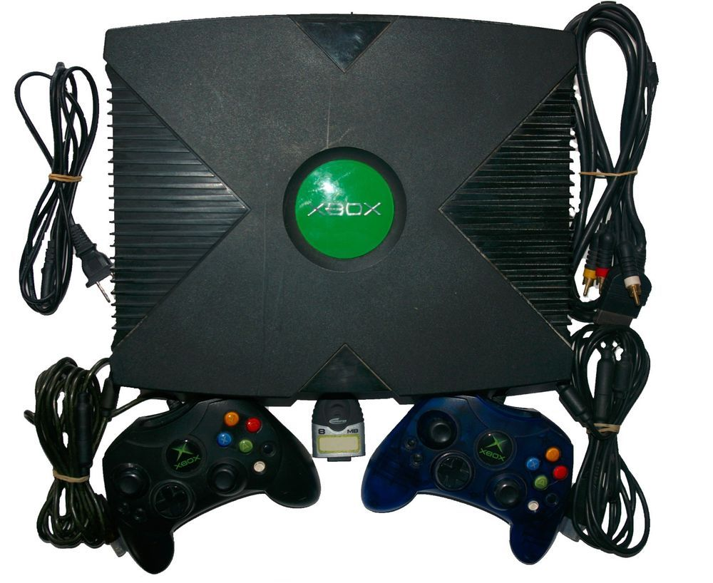 Original Xbox Game Console OEM Soft Mod with Controllers