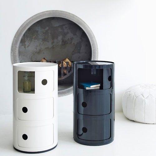 Meuble De Rangement Componibili 3 Elements De Kartell Blanc Kartell Componibili Chambre Design Accessoire Maison